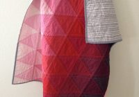 modern pink ombre triangle quilt littlecolleydesign on Elegant Ombre Triangle Quilt Gallery