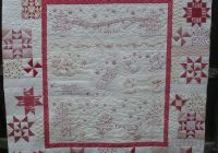 Modern redwork winter wonderland quilt made anita smith 11 Cool Winter Wonderland Quilt Pattern