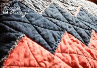 Modern ricochet and away the chevron rag quilt 9 Cool Chevron Rag Quilt Pattern Inspirations