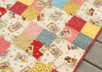 Modern simple four patch ba quilt diy ba quilting patch 11 Stylish Four Patch Quilt Ideas Gallery