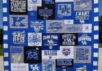 Modern six details that make a t shirt quilt look extraordinary 10 Interesting Patterns For TShirt Quilts Gallery