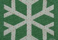 Modern snowflake paper pieced pattern during quiet time 11 Beautiful Snowflake Quilt Block Pattern