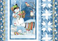 Modern snowy friends free quilt pattern panel quilt patterns 10 Unique Quilt Patterns For Panels Gallery