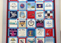 Modern t shirt quilt eleanor burns signature quilt pattern 10 Interesting Patterns For TShirt Quilts Gallery