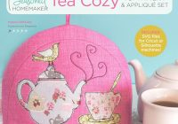 Modern tea time tea cozy pdf pattern plus appliqu set 9 Interesting Quilted Tea Cozy Pattern Gallery