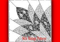 Modern vintage quilt pattern cleopatras fan 1930s depression era ebay 9 Unique Vintage Quilt Block Patterns Gallery