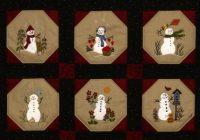 Modern warm fuzzy snowmen quilt 12 wool applique blocks quilt finishing pattern beth ritter instant digital download 10 Unique Snowman Quilt Patterns Applique