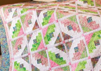 modified log cabin blocks create a lovely quilt quilting Unique Log Cabin Patchwork Quilt Patterns Gallery