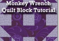 monkey wrench quilt block pattern illustrated step step Stylish Monkey Wrench Quilt Block Pattern