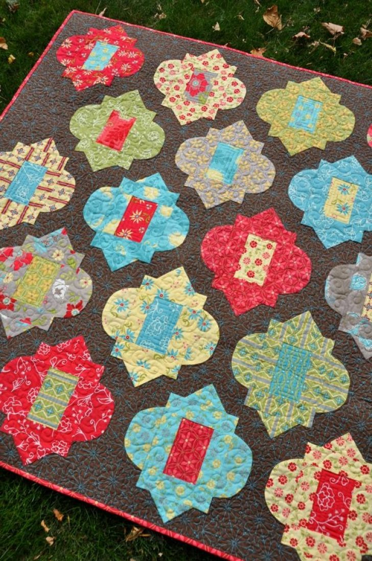 Permalink to Unique Moroccan Tile Quilt Pattern Inspirations