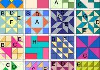 multiple simple quilt block patterns patchwork quilt Elegant Beginner Quilt Block Patterns Gallery