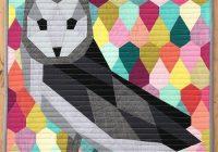 my owl barn geometric animal quilt patterns violet craft Modern Geometric Quilting Patterns Gallery