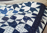 navy and white are so pretty in this quilt quilting digest Unique Blue And White Quilt Patterns Gallery