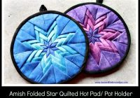New amish folded star quilted hot pad pot holder1 700530 9 Cozy Amish Quilted Pot Holders For Sale Inspirations