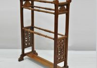 New antique american eastlake victorian carved walnut towel rack quilt rack stand Elegant Vintage Quilt Rack