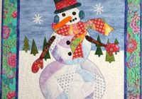 New bj designs patterns snowball snowman applique quilt pattern 10 Unique Snowman Quilt Patterns Applique