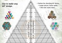 New clearview triangle 12 inch 60 degree acrylic quilt ruler for tumble blocks cubes 10 Cool Quilting Triangle Ruler