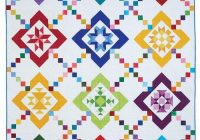 New color box block of the month colorful quilts quilts 10 Modern Colorful Quilt Patterns Inspirations
