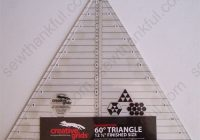 New creative grids cgrt12560 12 12 12 10 Stylish 60 Degree Triangle Quilting Ruler Gallery