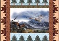 New eagle mountains panel quilt pattern diane mcgregor 10 Unique Quilt Patterns For Panels Gallery