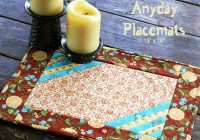 New free pattern anyday placemats gudrun Modern Pattern For Quilted Placemats Gallery