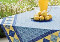 New free table topper patterns allpeoplequilt 10   Quilted Tablecloth Patterns Gallery