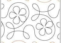 New ginger flower quilting pantograph pattern from apricot moon designs 9 Elegant Pantograph Quilting Patterns