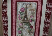 New handmade modern quilt paris eiffel tower shab elegant chic 11 Modern Stylish Quilting Treasures Fabric