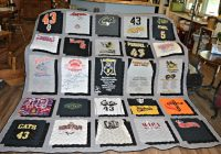 New how to make a t shirt quilt block diy tutorial rock 10 Interesting Patterns For TShirt Quilts Gallery