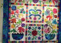 New kim mclean flower pot applique quilts applique quilting Interesting Kim Mclean Quilt Patterns