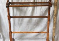 New l314 antique american 19th century quilt rack blanket stand Elegant Vintage Quilt Rack