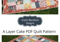 New layer cake quilt pattern shab chic charm pack moda fabric 9   Moda Fabric Quilt Patterns Gallery
