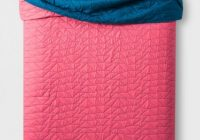 new pillowfort triangle stitch reversible quilt and 1 sham twin pink blue Modern Triangle Stitch Quilt And Sham Set Pillowfort Inspirations