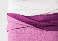 new pillowfort triangle stitch reversible quilt and 2 shams full queen violet Modern Triangle Stitch Quilt And Sham Set Pillowfort Inspirations