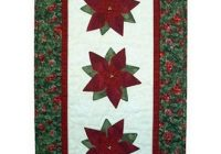 New poinsettia quilts poinsettias quilt pattern panel quilt 11 Stylish Poinsettia Quilt Pattern Inspirations