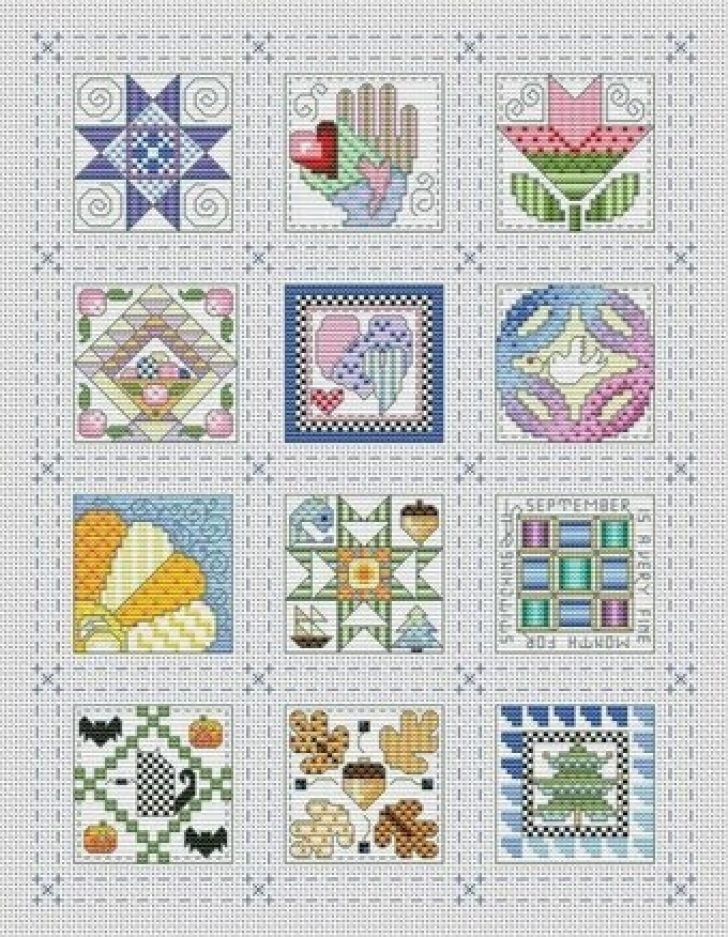 Permalink to 9 Unique Cross Stitch Quilt Block Patterns Gallery