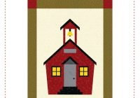 New school house quilt block pattern paper pieced pattern foundation piece pattern instant download school pattern quilt block pattern school 11 Elegant Schoolhouse Quilt Block Pattern Gallery