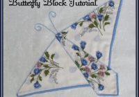 New vintage hankie butterfly block quilt pattern tutorial from 10 Beautiful Handkerchief Butterfly Quilt Pattern