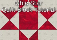 ohio star quilt block illustrated step step instructions Stylish 18 Inch Quilt Block Patterns Gallery