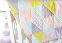 one hour triangle quilt see kate sew Elegant Triangle Baby Quilt Pattern Inspirations