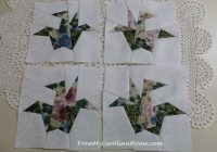 orizuru an origami crane mini quilt from my carolina home 10 Beautiful Origami Crane Quilt Pattern Inspirations