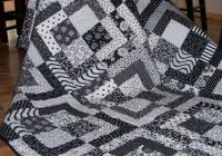 out of the box i would not have thought of doing a black Elegant Black And White Quilt Pattern Gallery