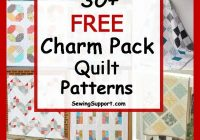 over 30 free quilt patterns tutorials using charm packs 5 Quilt Pattern Using Charm Packs Inspirations