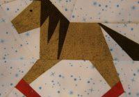 paper pieced rocking horse block pattern quilt block Elegant Rocking Horse Block Quilt Pattern Inspirations