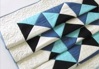 patchwork bed runner with free motion quilting sew4home Elegant Bed Runner Quilt Patterns