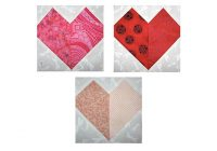 patchwork hearts quilt block pattern Cozy Heart Quilt Block Pattern