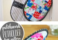 patchwork potholder with pockets a mini quilt for your Elegant Quilted Potholders Patterns Inspirations