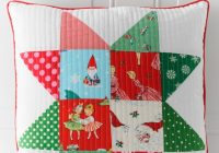 patchwork quilted christmas pillow tutorial polka dot chair Elegant Quilt Patterns For Pillows Gallery
