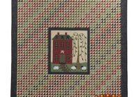 pattern homestead lisa bongean of primitive gatherings quilt pattern 88 x 104 fullqueenking applique house trees Modern Primitive Gatherings Quilt Patterns