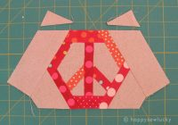 peace hexie pattern sewing inspiration quilt blocks Peace Sign Quilt Pattern Inspirations